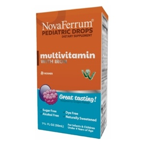 NovaFerrum Multivitamin with Iron Supplement for Infants and Toddlers